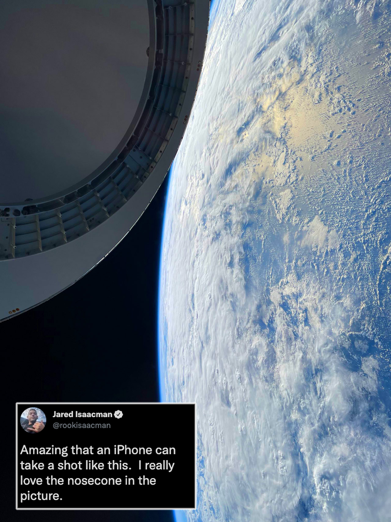 Jared Isaacman SpaceX Astronaut Earth iPhone