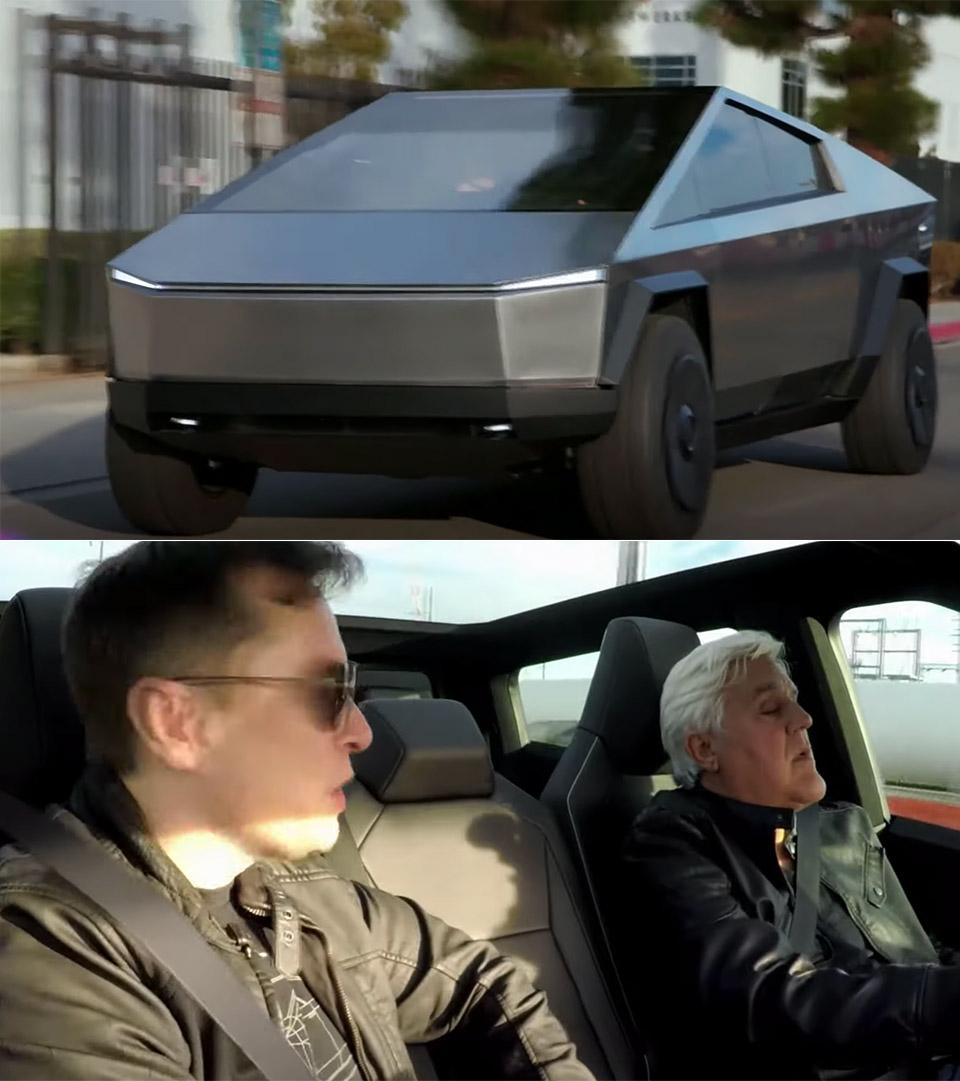 Jay Leno Elon Musk Cybertruck