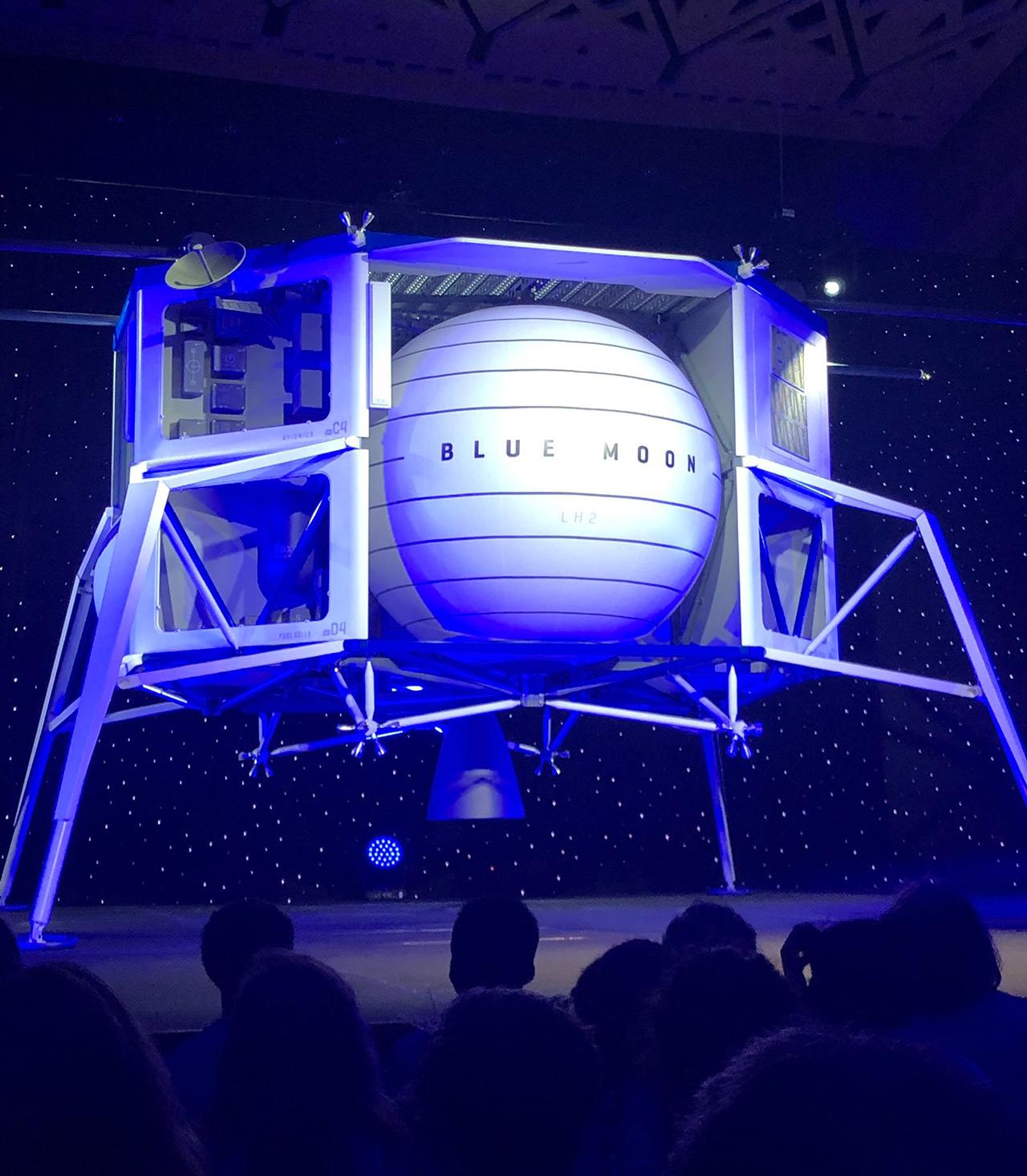 Jeff Bezos Blue Moon Landing