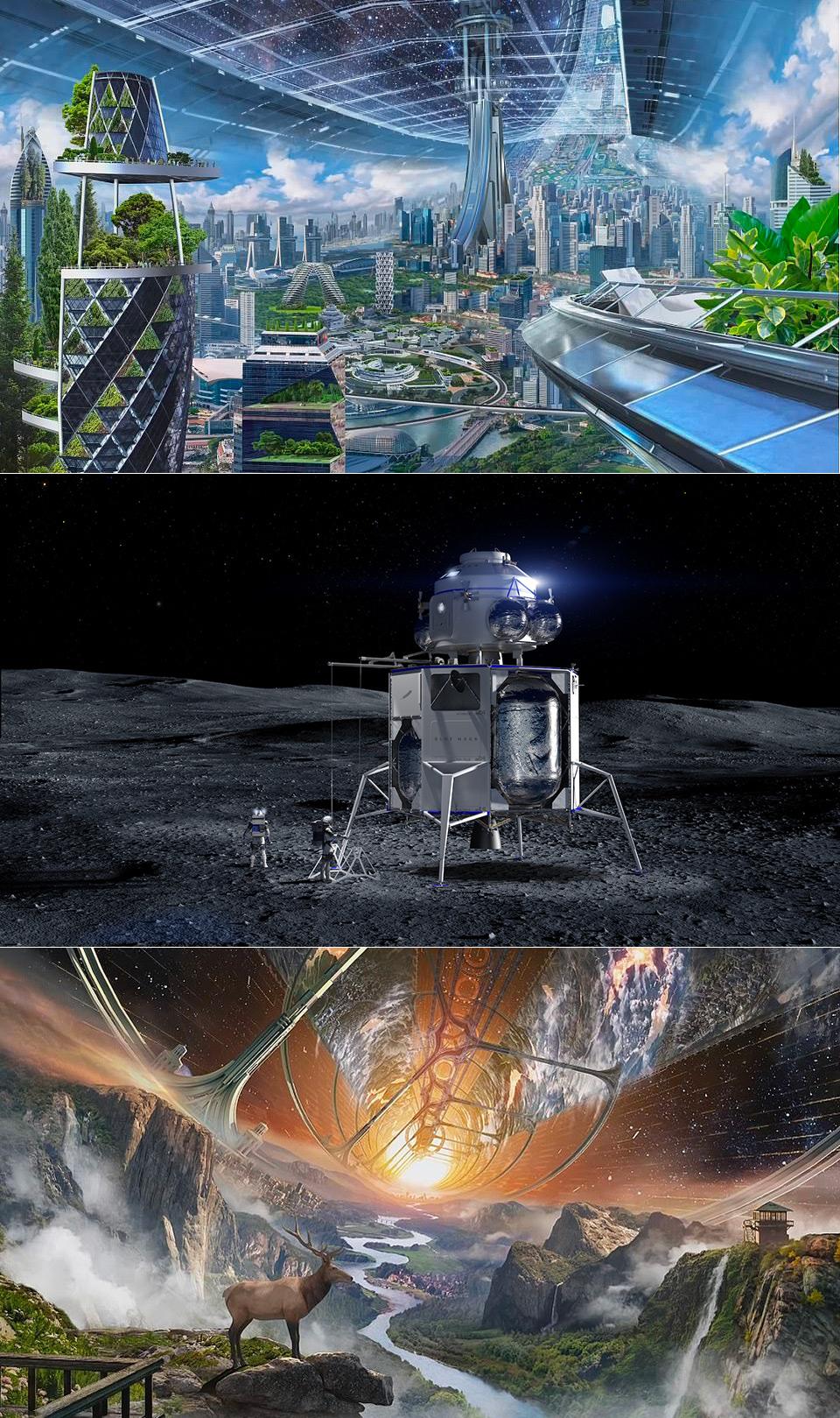 Jeff Bezos Ring World Space Habitat Amazon