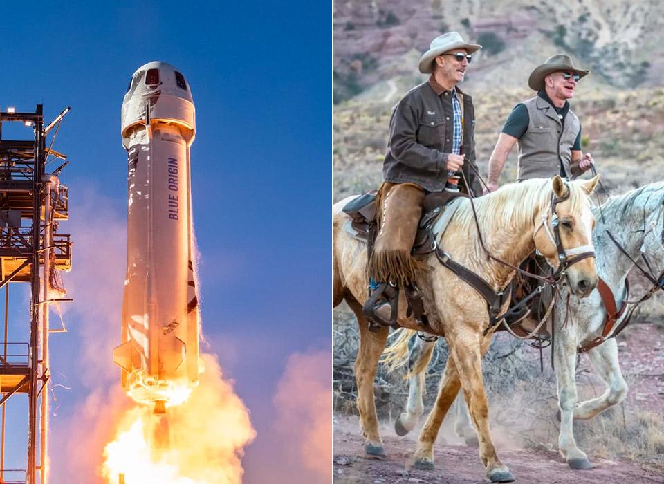 Jeff Mark Bezos Blue Origin New Shepard First Space Flight
