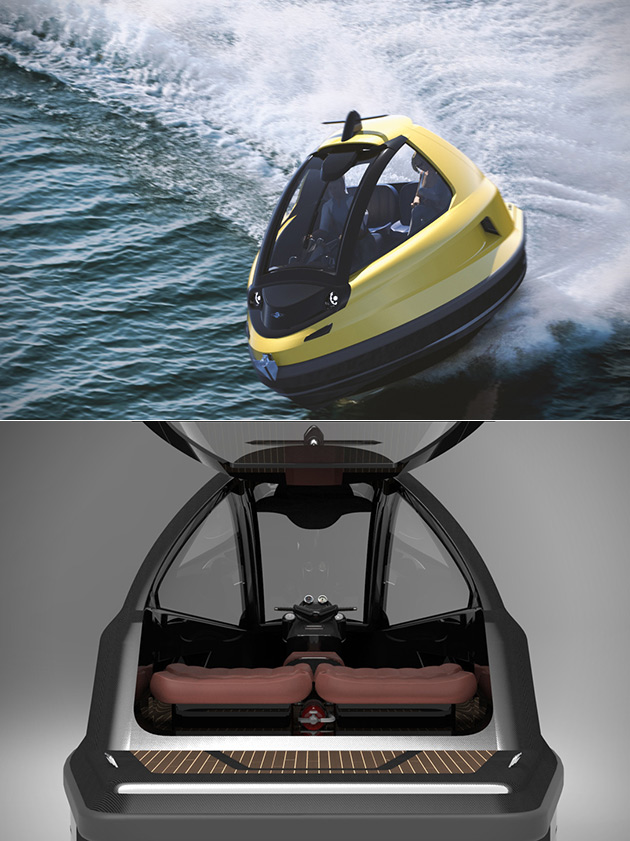 Jet Capsule Mini Jet Combines A Luxurious Yacht And Speedboat Into