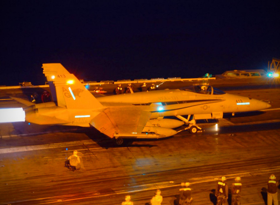 Landing on Aircraft Carrier at Night