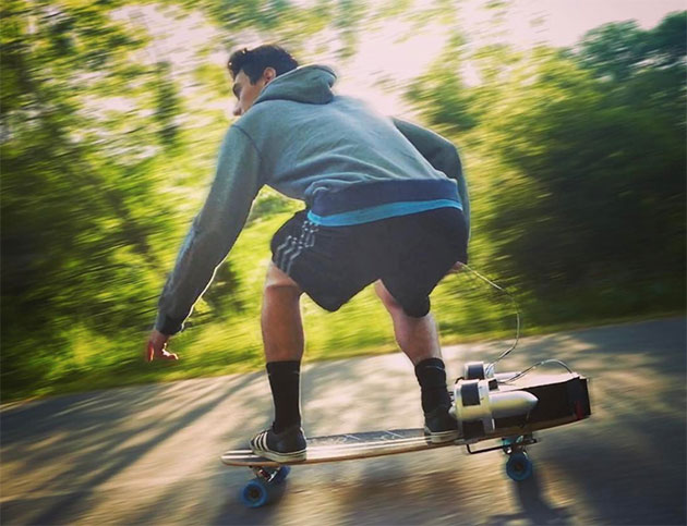 Jet-Powered Boosted Board
