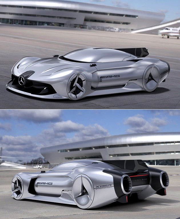 Jet-Powered Mercedes Streamliner