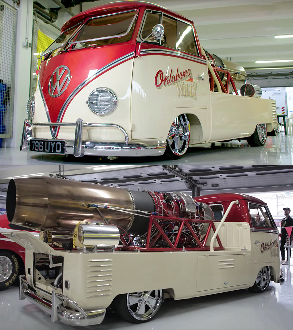 Jet-Powered VW Camper Van