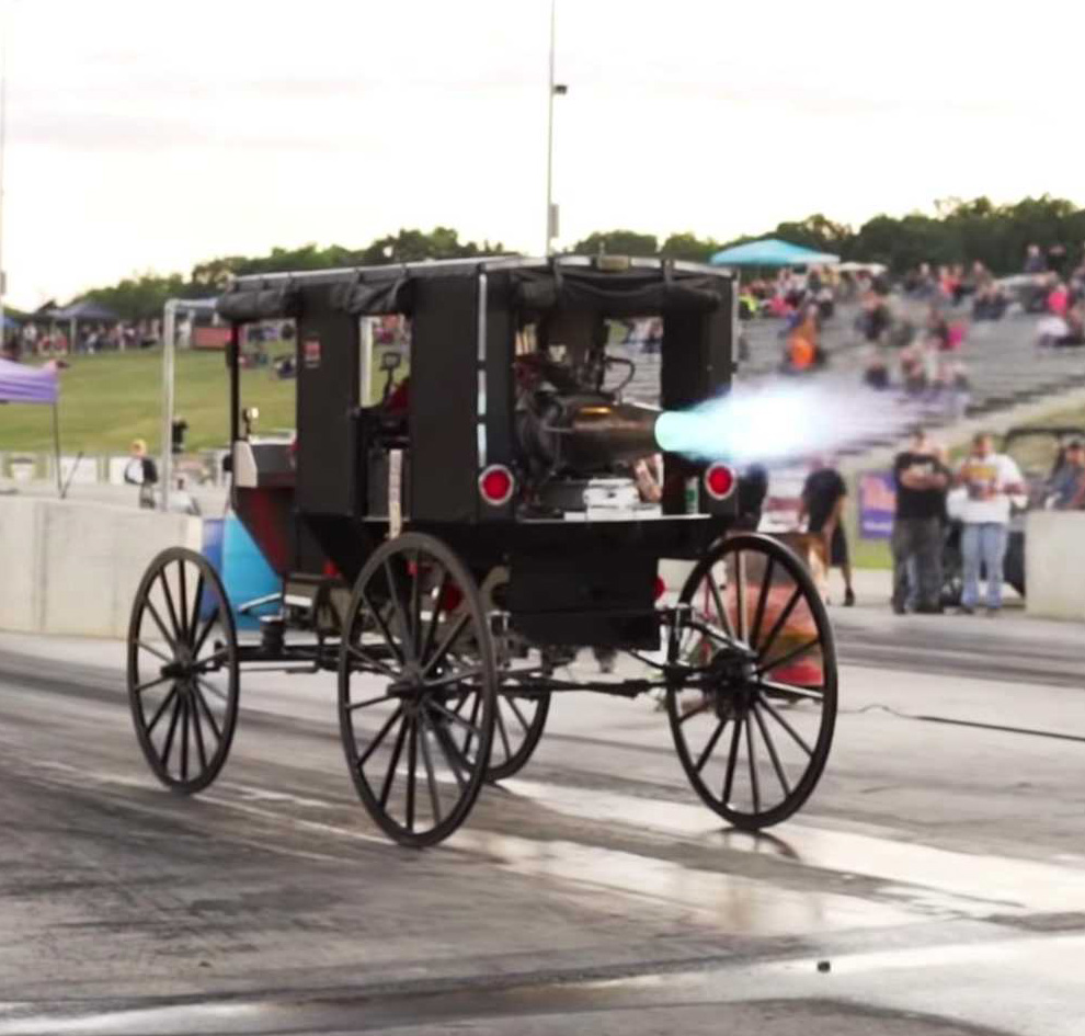 Jet-Powered Amish Buggy