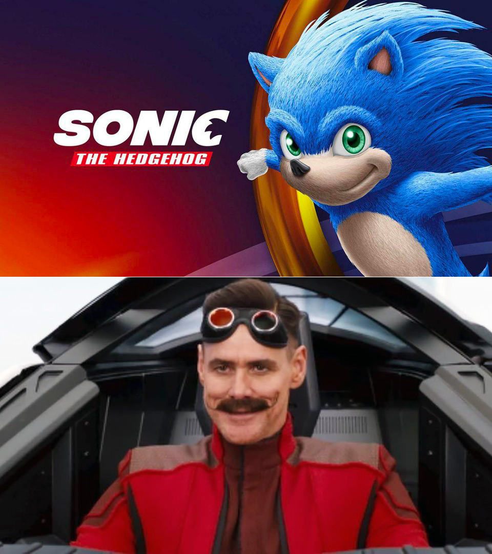 First Look At Jim Carrey As Doctor Eggman Dr Robotnik In New Sonic The Hedgehog Live Action Movie Trailer Techeblog