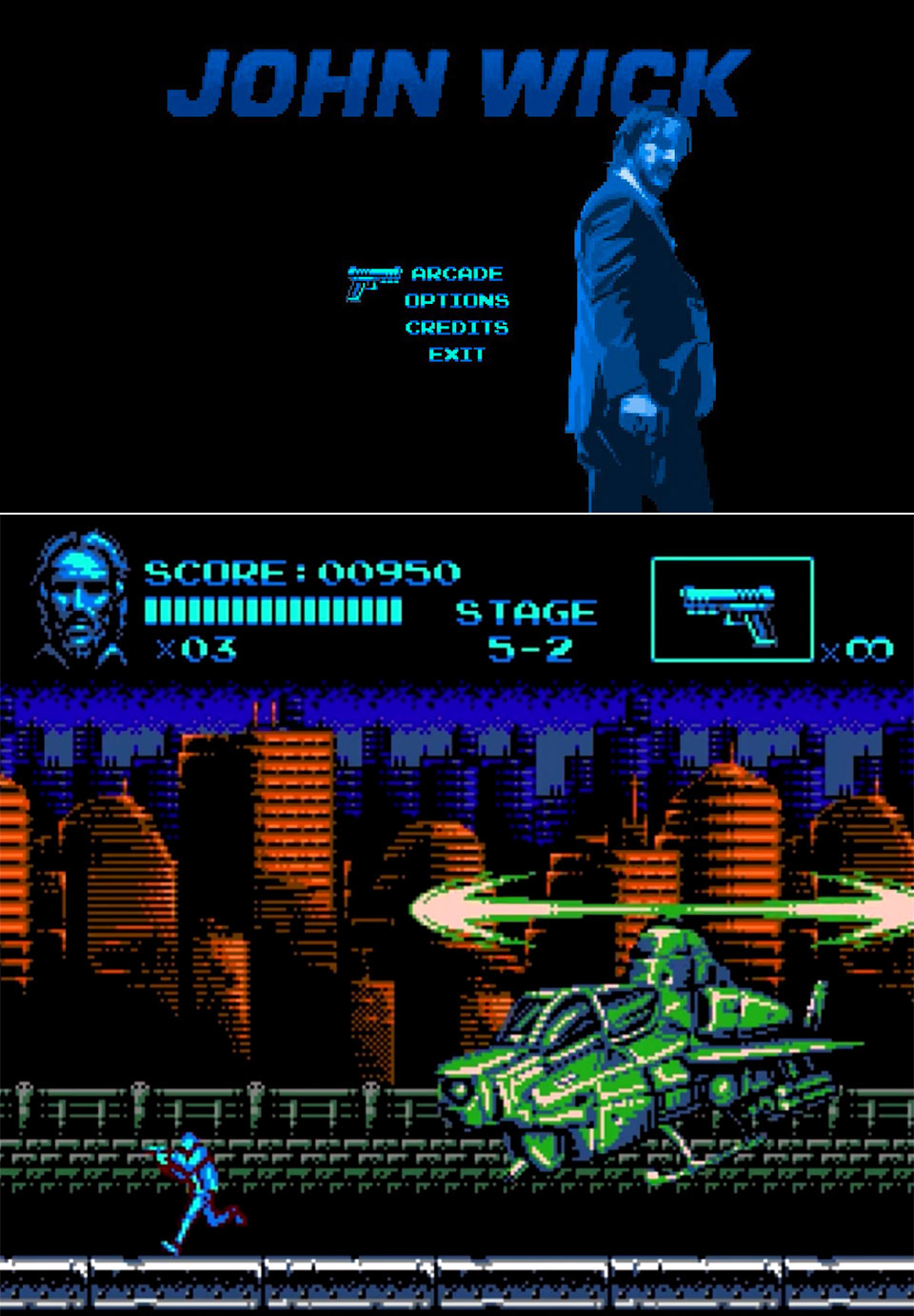 John Wick NES Game
