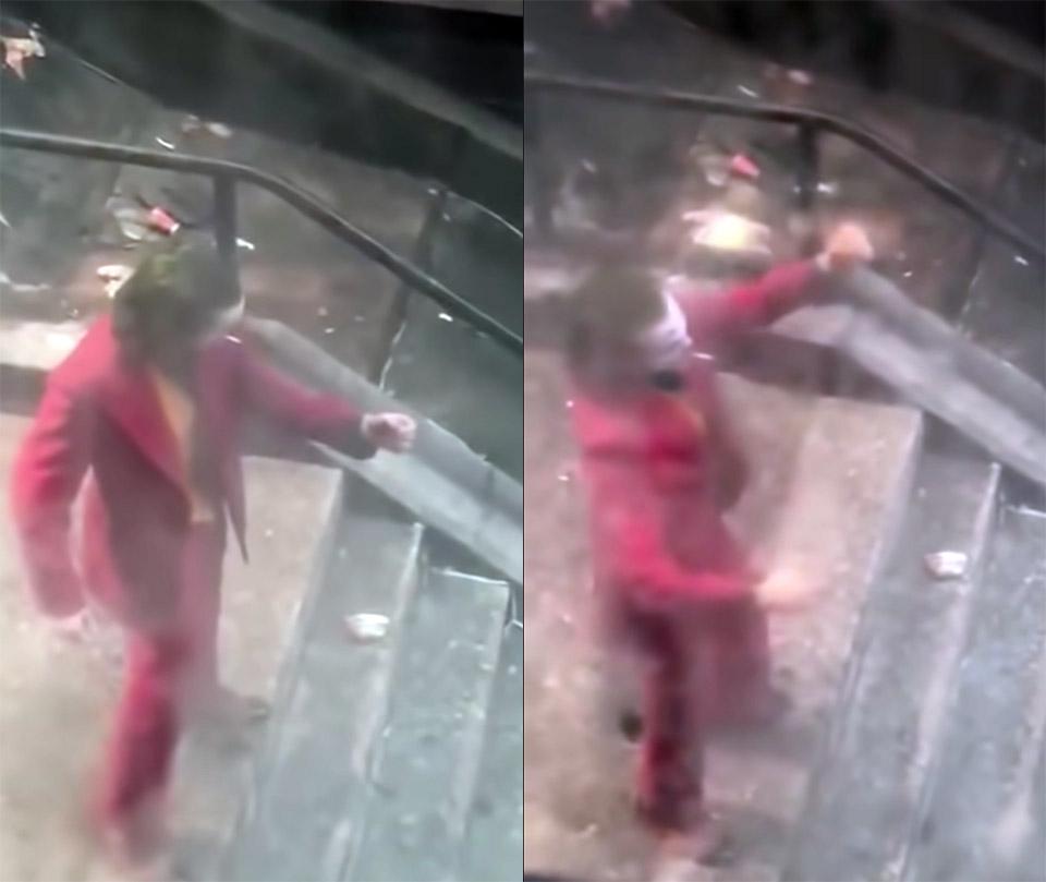 Joker Stair Dancing Scene