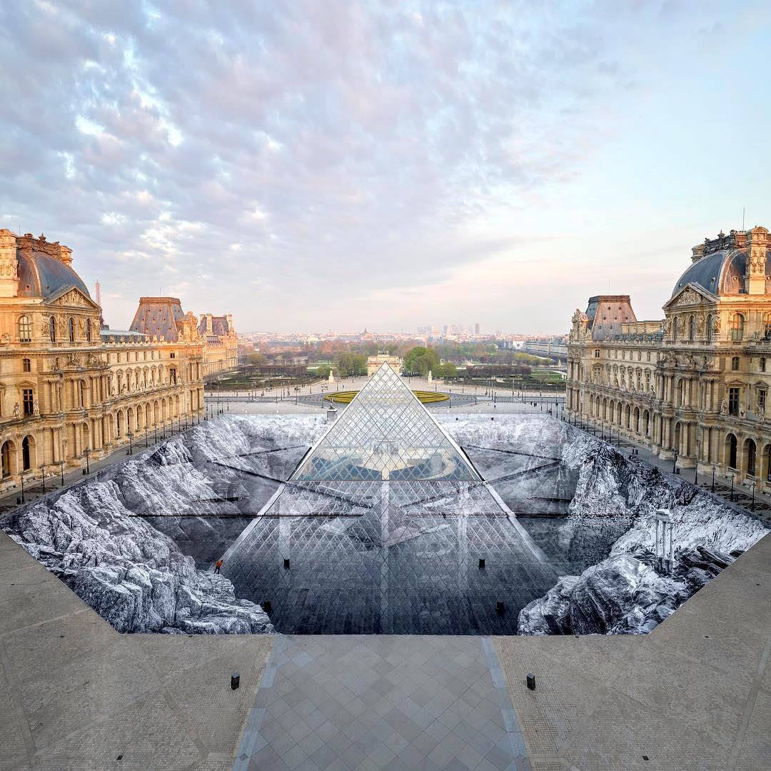 Louvre Pyramid Illusion