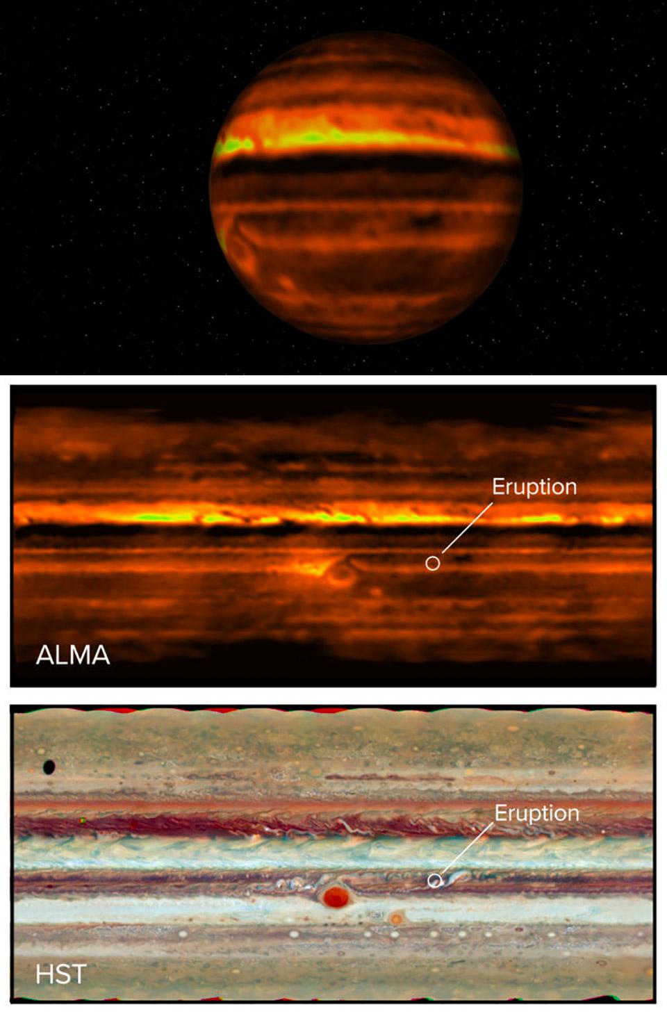 Jupiter Atmosphere Storm