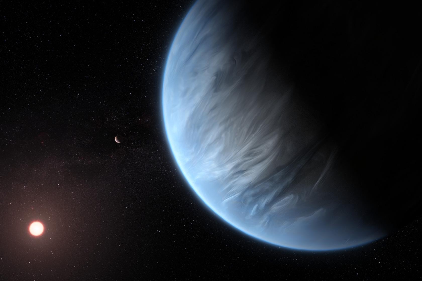 K2-18b Exoplanet Water