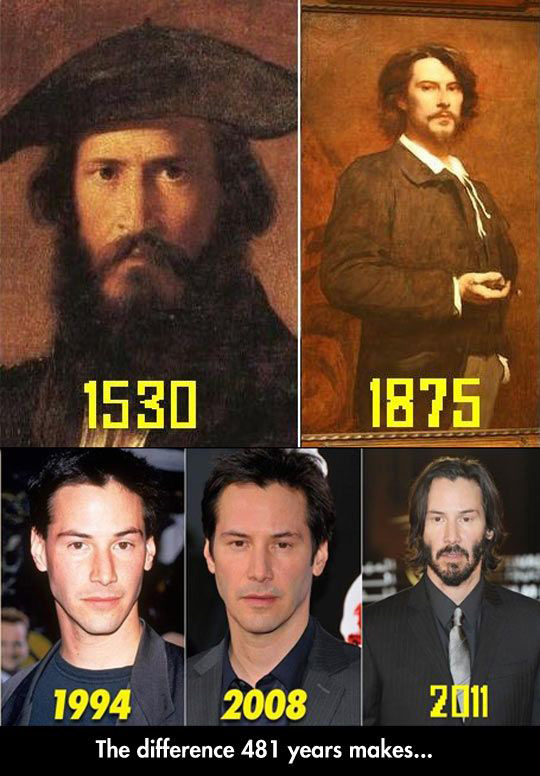 Keanu Reeves Time Traveler