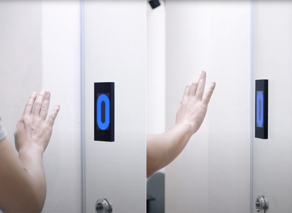 Kinetic Touchless Gesture-Controlled Door