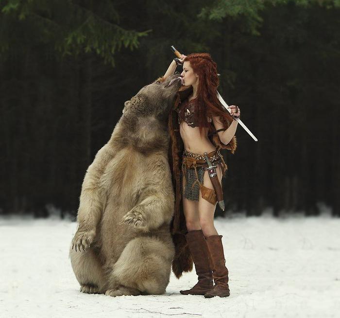 Kissing Real Bear