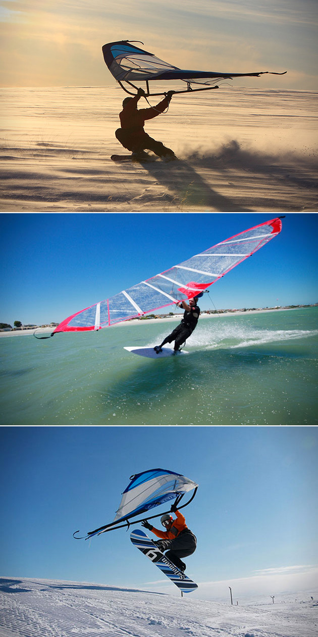 KiteWing Combines Windsurfing, Snowboarding and Skateboarding Into One Awesome Wing