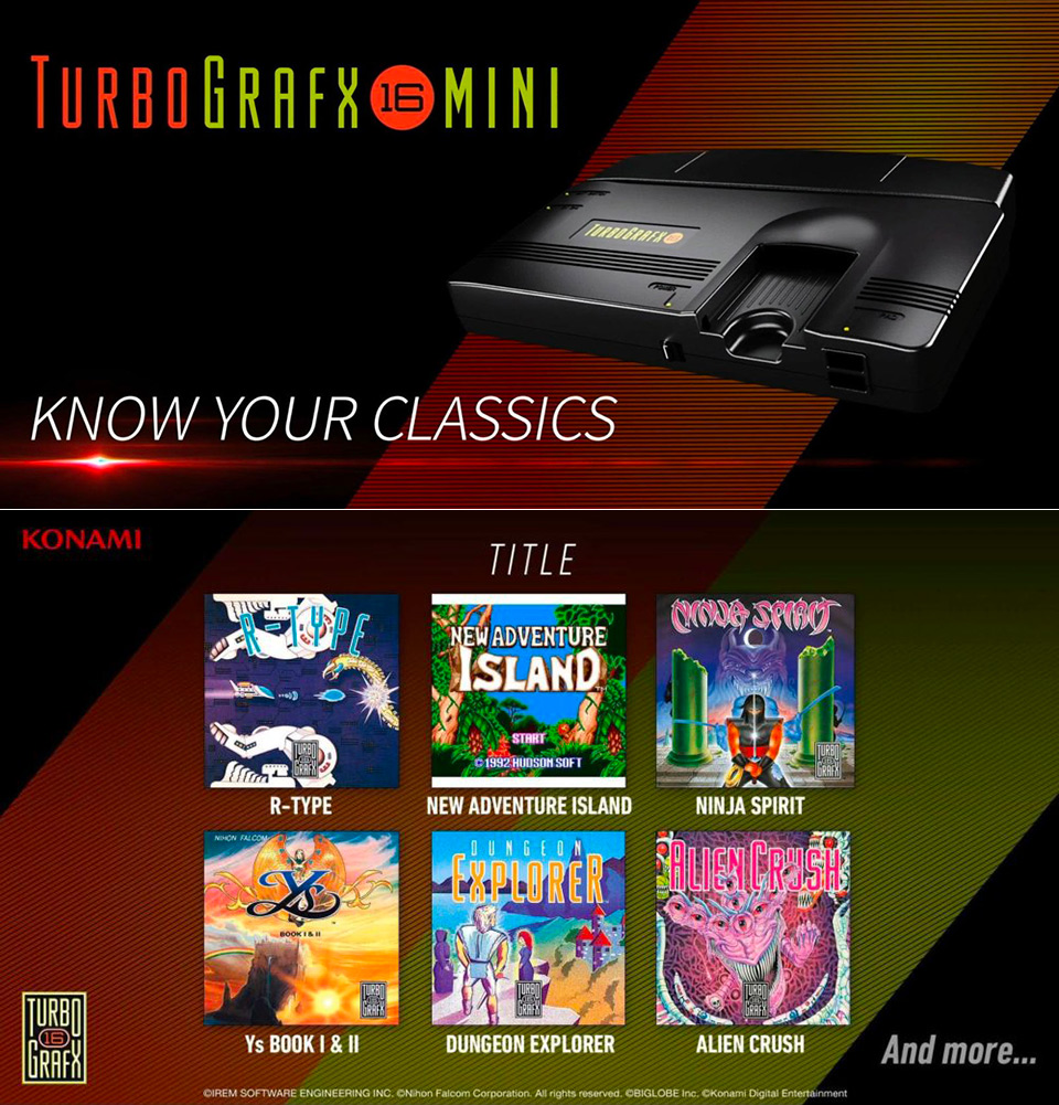 Konami TurboGrafx-16 Mini