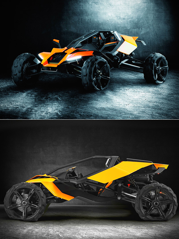When Supercar Meets Off Road Dune Buggy You Get The Sleek Ktm Ax