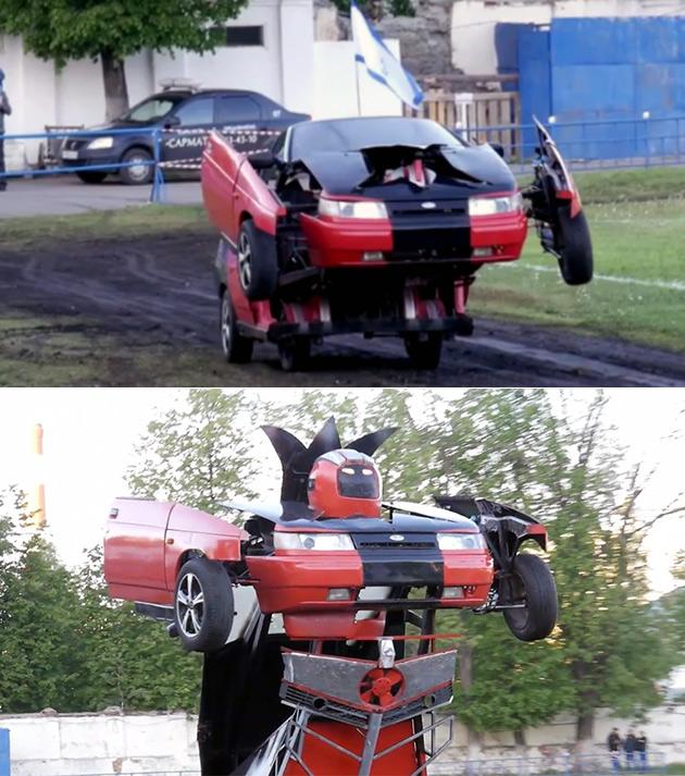 Lada Transformers Robot