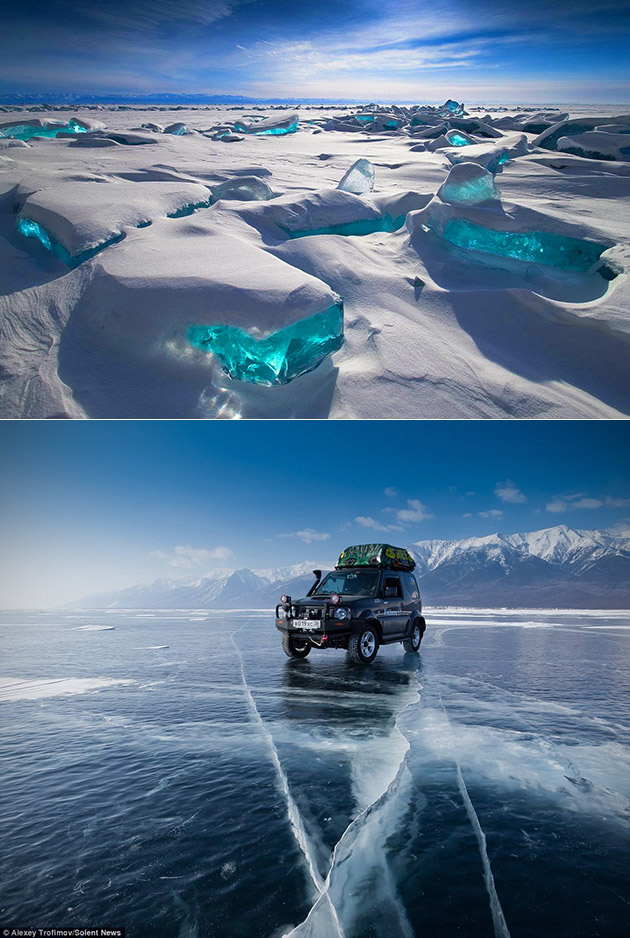 Lake Baikal Frozen