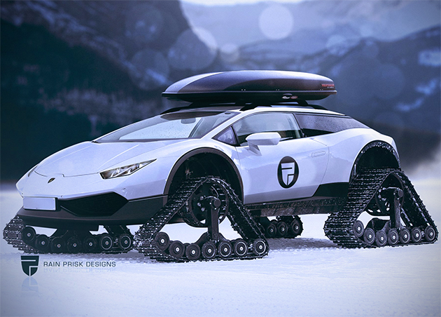 When Lamborghini Huracan Meets Tank You Get This Awesome