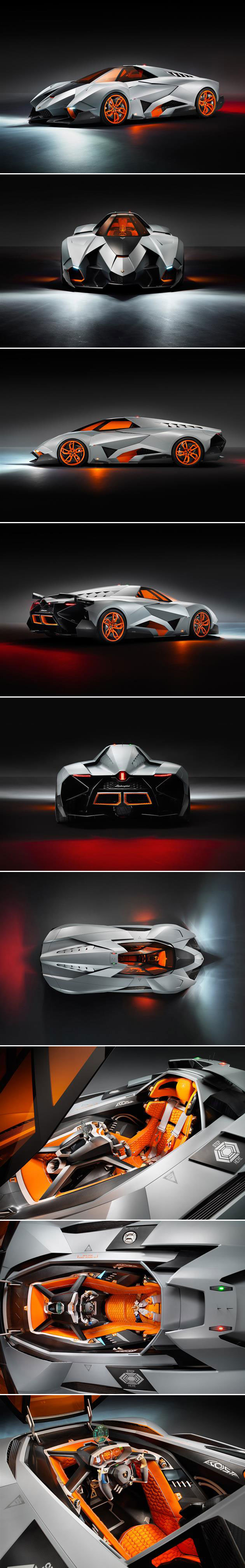 Single-Seat Lamborghini Egoista Has Jet Fighter Cockpit, Complete with Heads-Up Display