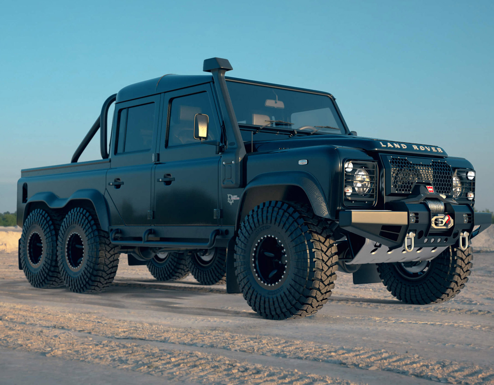 Land Rover Black Mamba 6x6 Defender