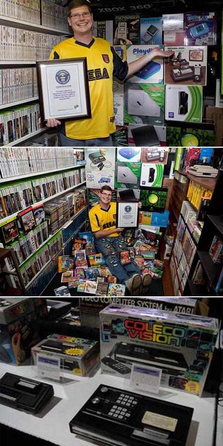 Vidéo montre la plus grande Collection de jeux vidéo au monde, inclut 10 607 jeux