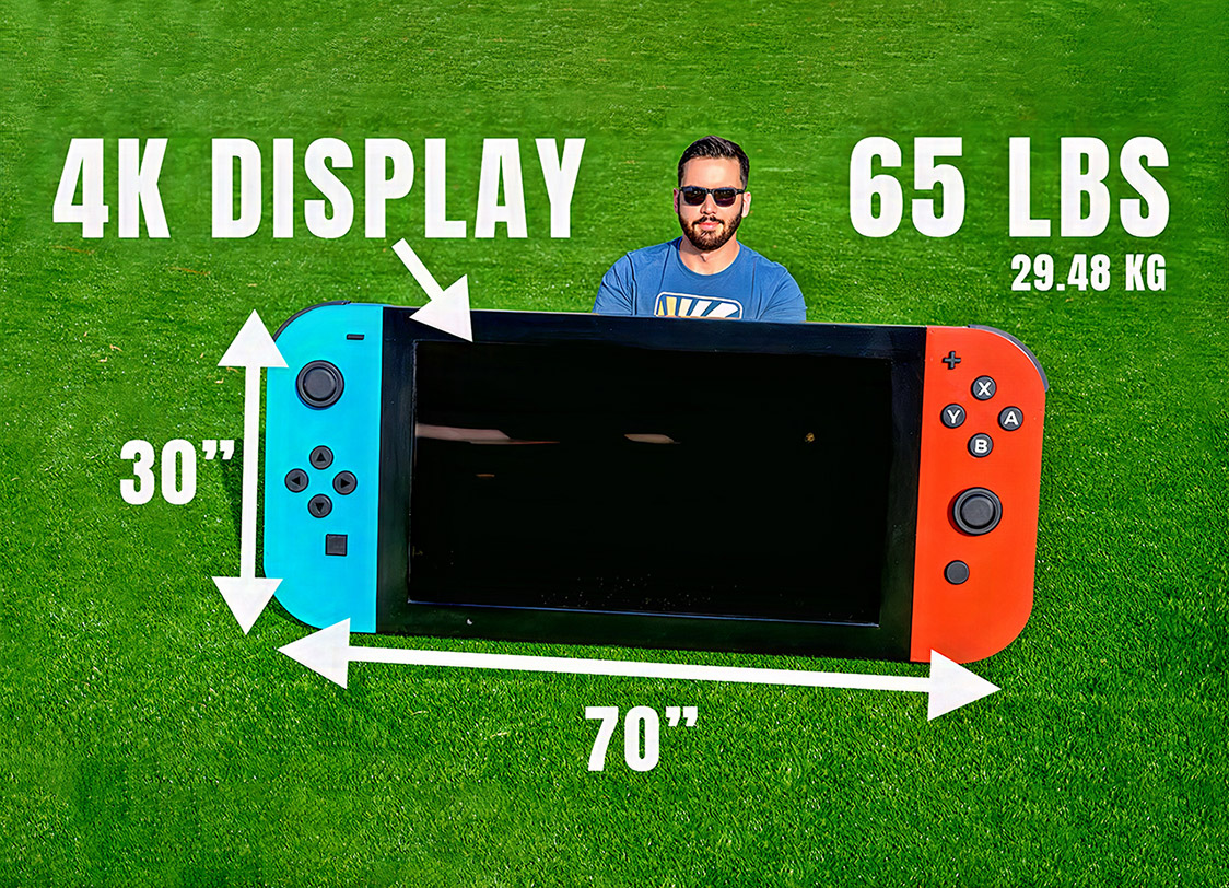 World's Largest Nintendo Switch