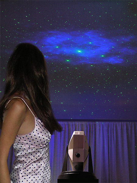 laser stars projector turns any ceiling into a starry night