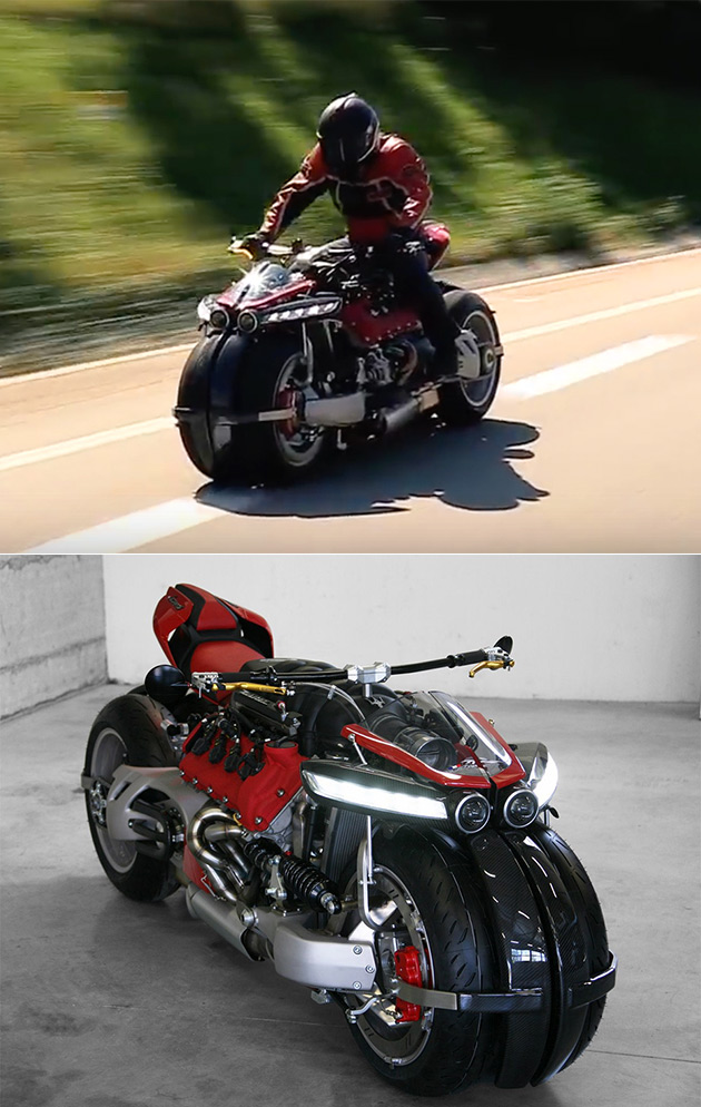 Lazareth LM847 V8 Motorcycle