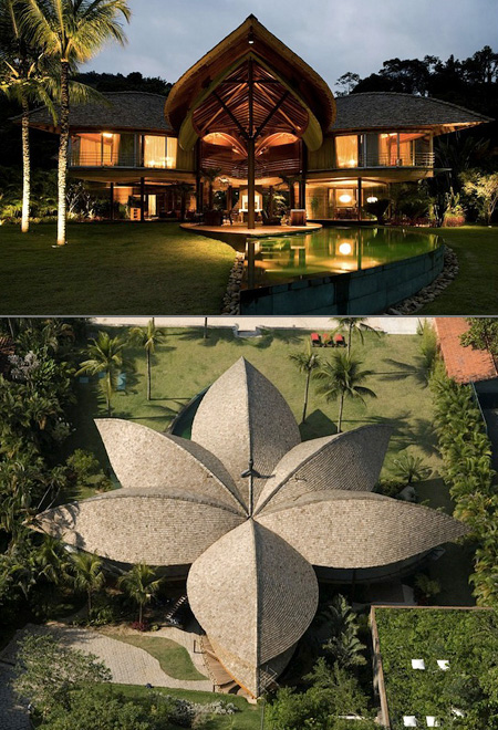Amazing Leaf House In Brazil Looks Like A Tropical