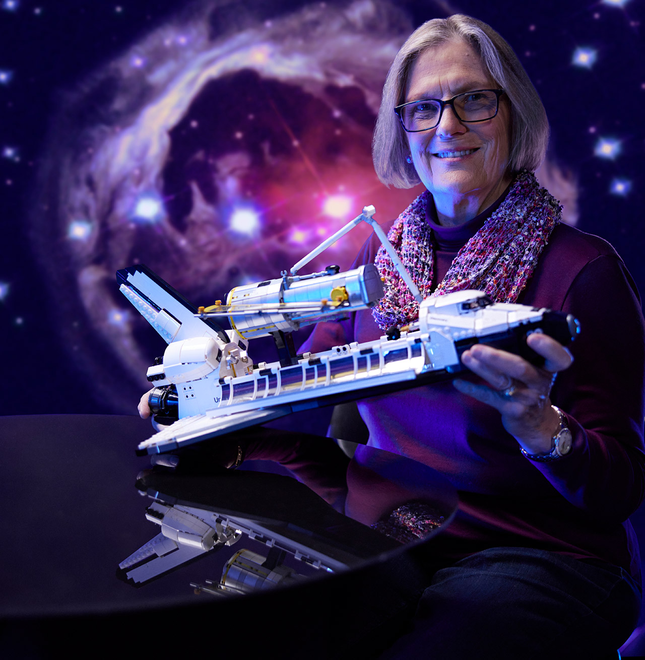 LEGO Astronaut Kathy Sullivan NASA Space Shuttle Discovery
