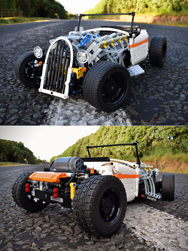 LEGO Technic Hot Rod Powered by a V8 Engine and 3 More Geeky LEGO ...
