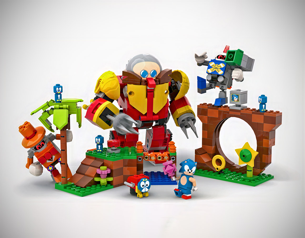 LEGO Ideas Sonic Mania Green Hill Zone
