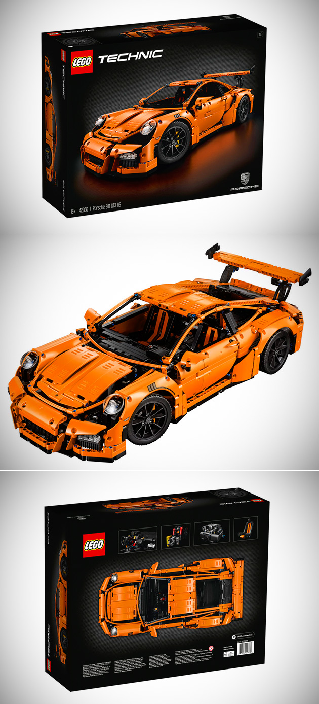 lego technic porsche 911 gt3 rs has moving engine parts. Black Bedroom Furniture Sets. Home Design Ideas