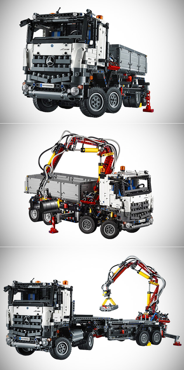 lego technic 42043 mercedes benz arocs has 2 793 pieces. Black Bedroom Furniture Sets. Home Design Ideas