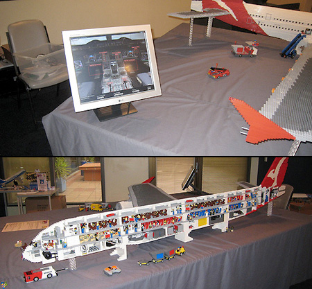 LEGO Singapore Airlines Airbus A380 | Made entirely of over