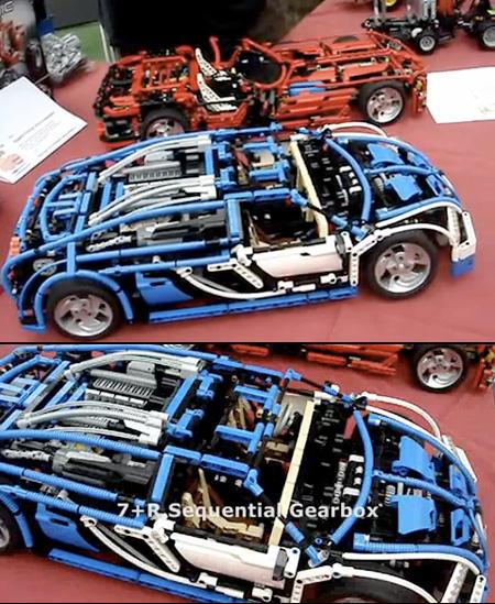 amazing remote controlled lego bugatti veyron has 7 speed. Black Bedroom Furniture Sets. Home Design Ideas