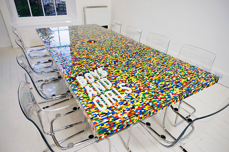 Amazing LEGO Conference Table TechEBlog - Build a conference table