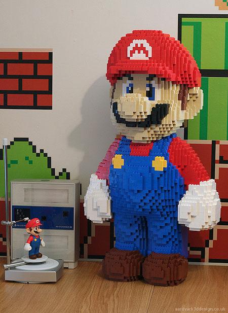 10 awesome life sized lego sculptures techeblog - Piezas lego gigantes ...