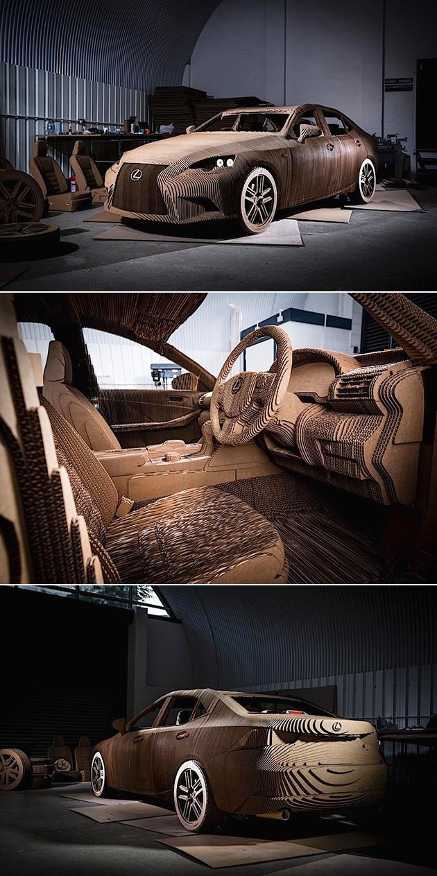 Lexus Cardboard Origami Car