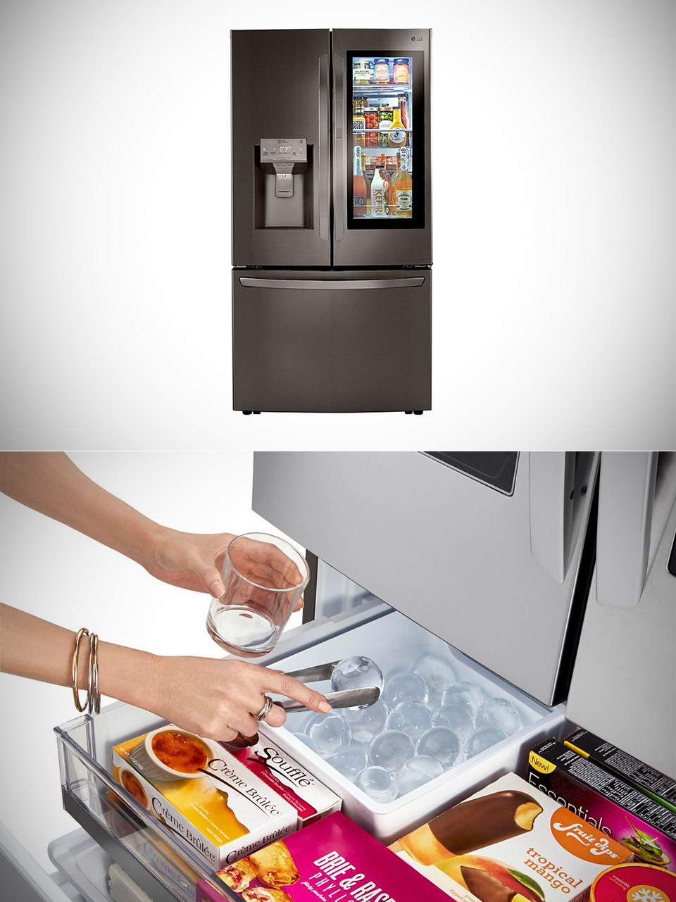 LG InstaView Door-in-Door Refrigerator Spherical Ice