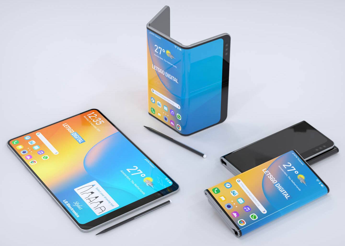 LG Double-Fold Smartphone