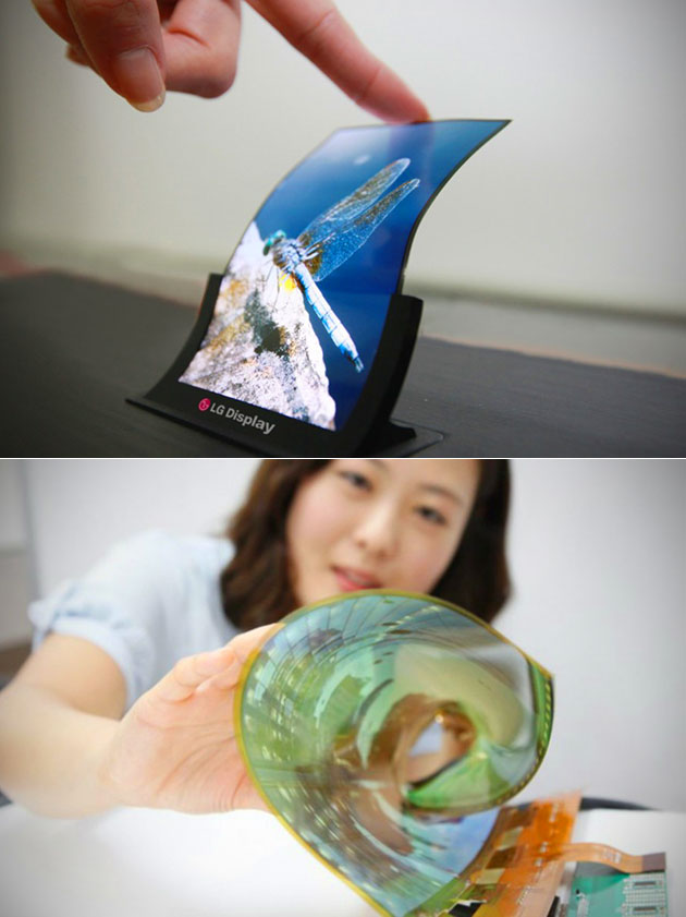 LG Flexible OLED Roll-Up Display