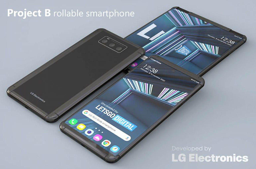 LG Project B Smartphone Roll-p Display