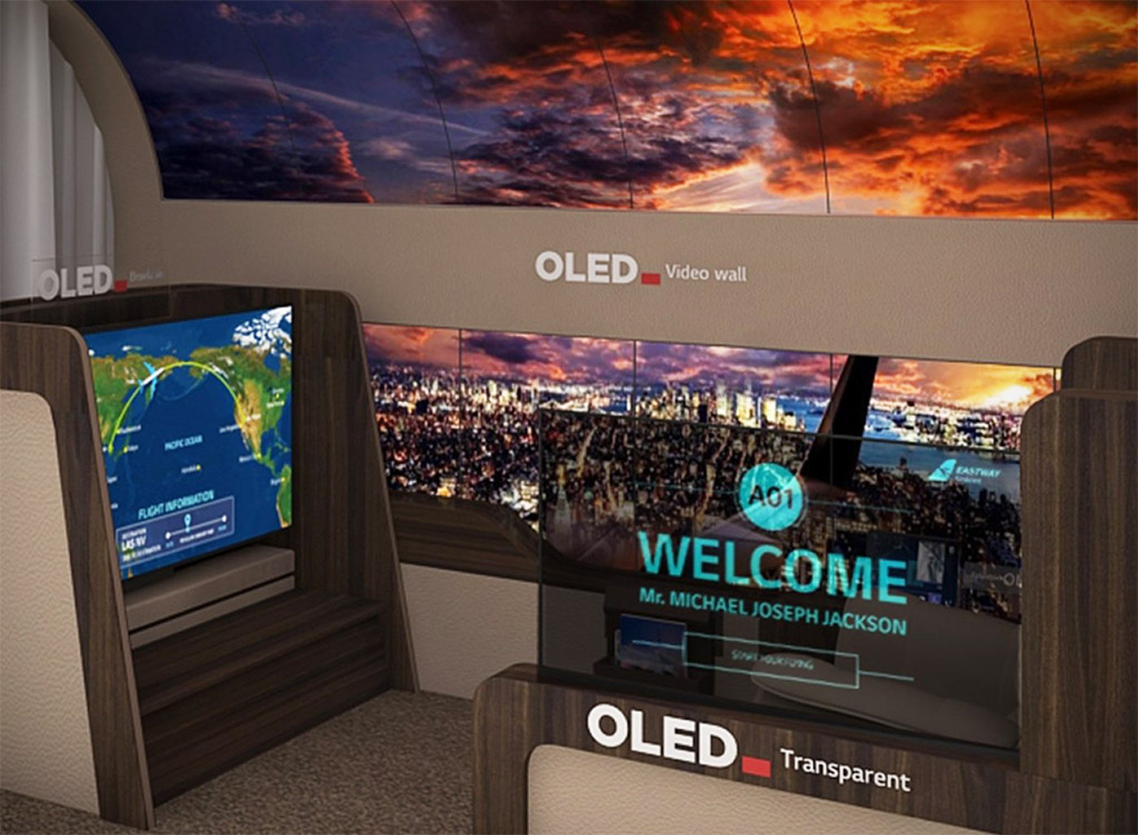 LG Rollable OLED TV Ceiling