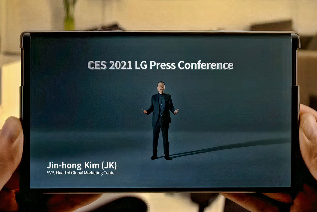 LG Rollable Smartphone CES Keynote