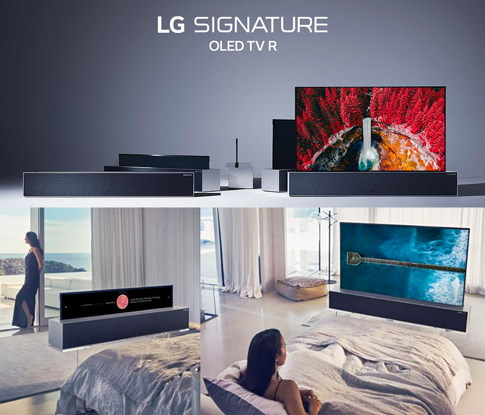 LG Signature OLED R Rollable Display